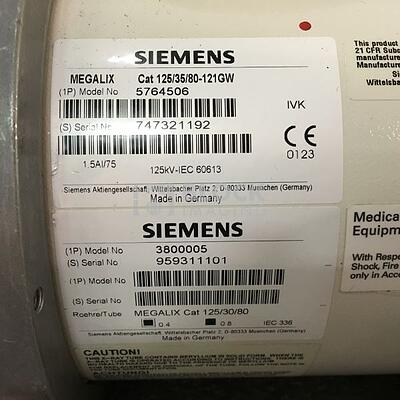 5764506 Megalix Cat 125/35/80-121GW X-ray Tube for Siemens Cath/Angio
