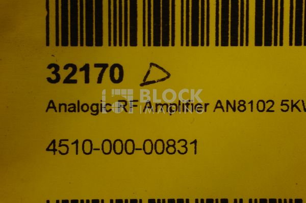 4510-000-00831 Analogic RF Amplifier AN8102 5KW for Philips
